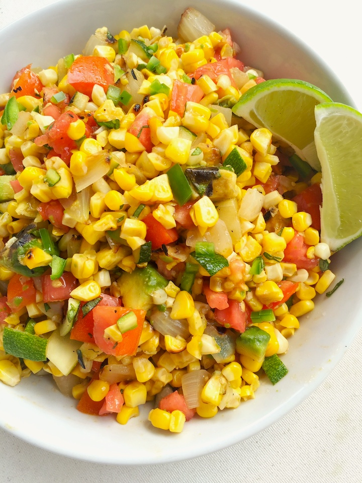 Grilled Corn and Poblano Salad with Honey-Lime Dressing - Holley ...