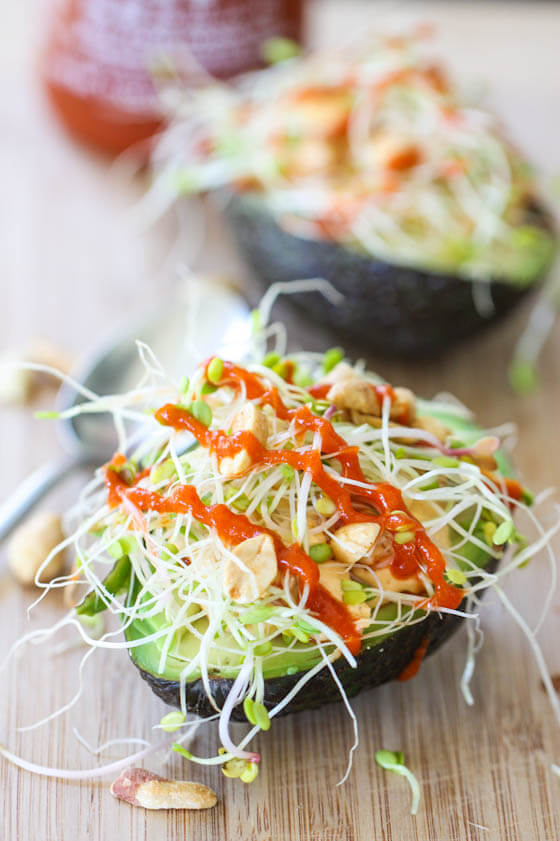 stuffed avocados