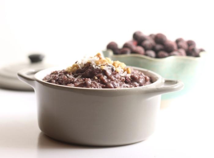 Crockpot Blueberry Pie Oatmeal