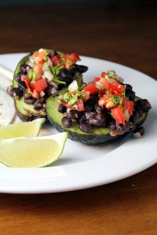 black bean stuffed avo