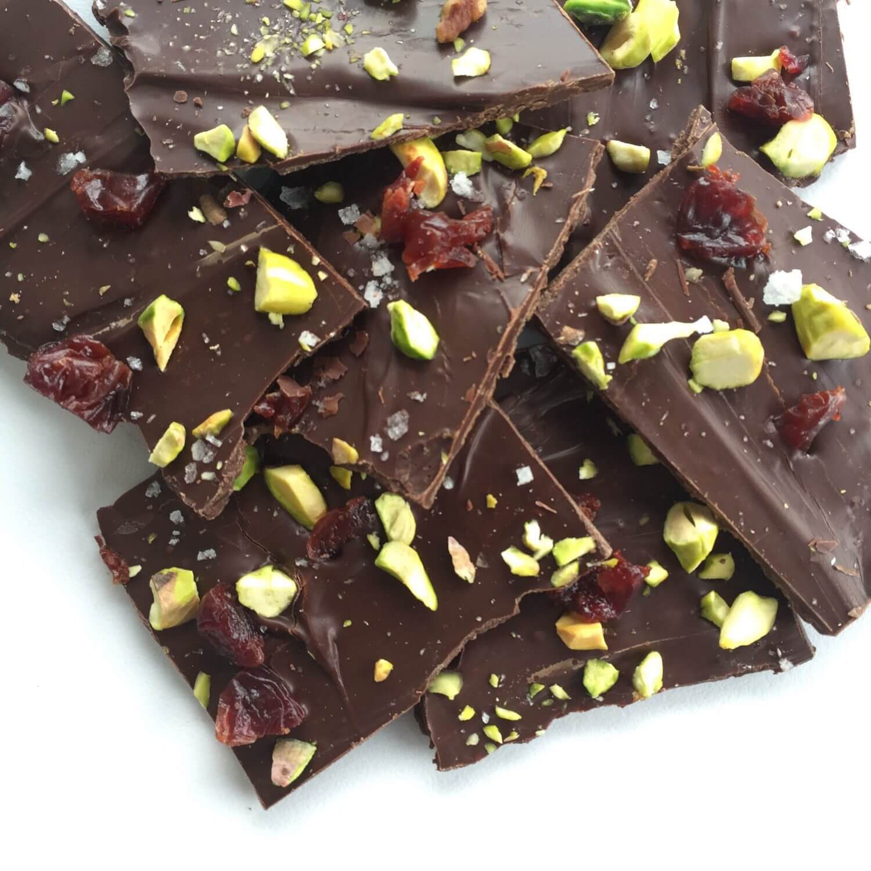Sweet and Salty Dark Chocolate Bark