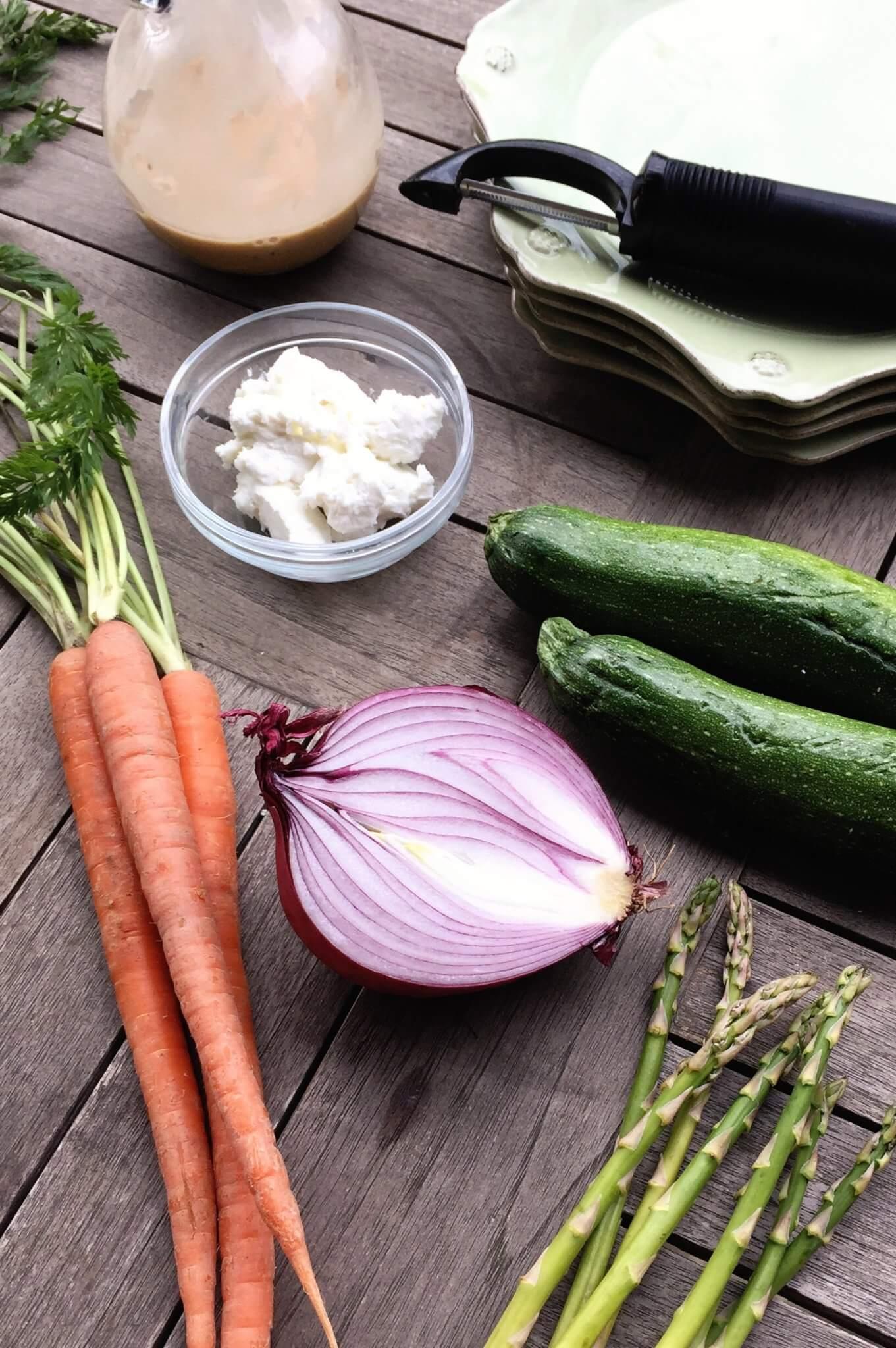 Asparagus, Zucchini and Carrot Ribbon Salad