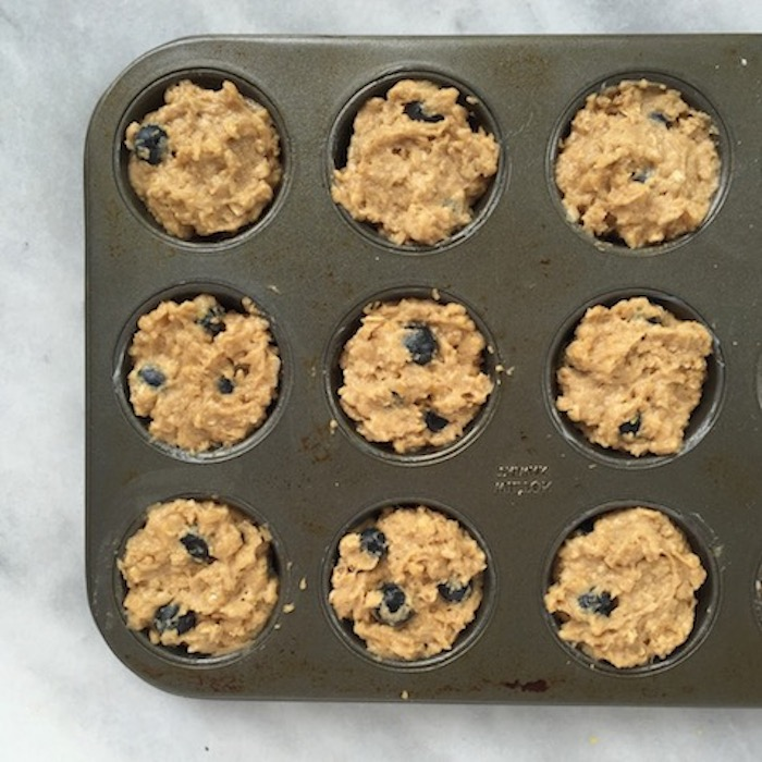 Blueberry Lemon Mini Oatmeal Muffins