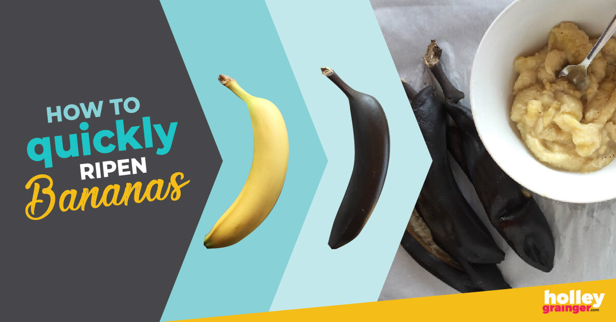 How to quickly ripen bananas in the oven