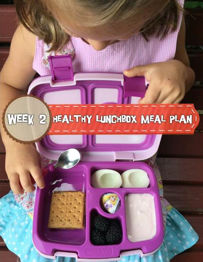 Healthy Lunchbox Meal Plan: Week 2 *Check back every week for a new meal plan. Tune into Instagram daily for the lunchbox of the day! | www.holleygrainger.com/blog