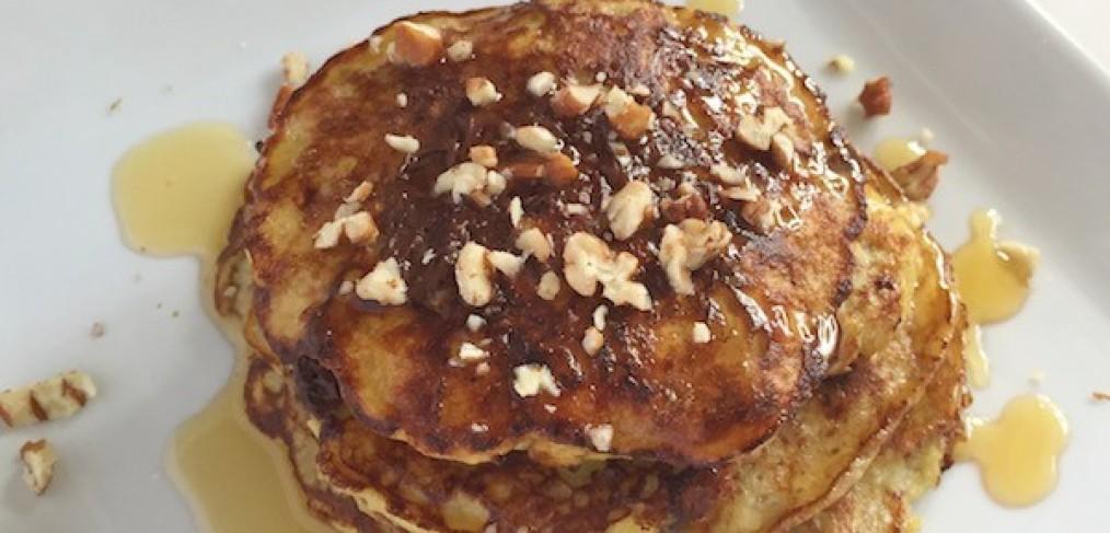 Gluten-Free Praline Pecan Protein Pancakes 2