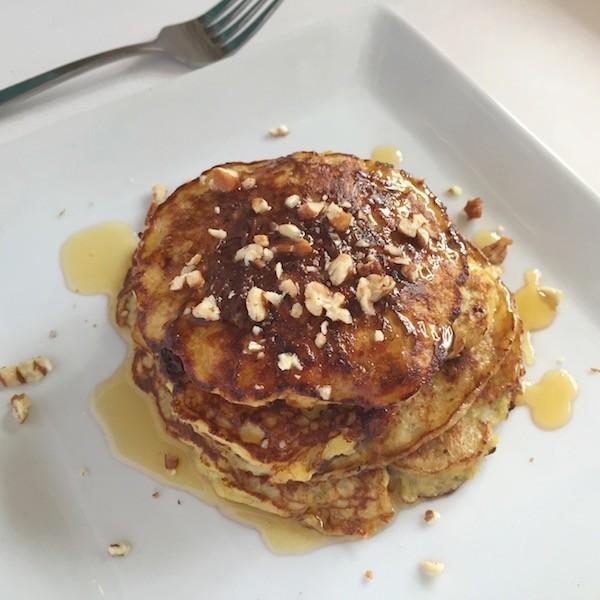 Gluten-Free Praline Pecan Protein Pancakes - Low-Sugar Breakfast Recipes