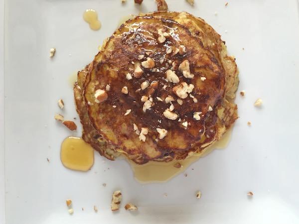 Gluten-Free Praline Pecan Protein Pancakes