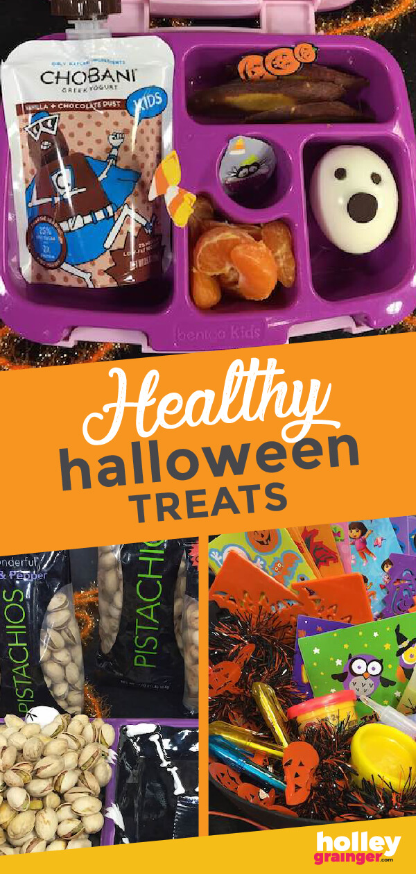 Serve creative, tasty and nutritious treats in your child's lunchbox or at the neighborhood party by making these healthy Halloween treats and swaps.