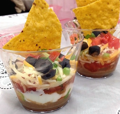Individual 7-Layer Dips for tailgates and parties (and to keep those double dippers away!)