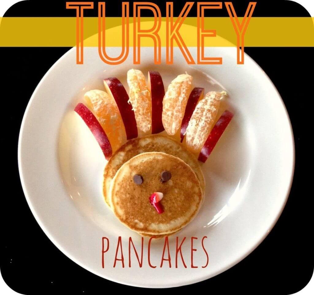 Thanksgiving Turkey Shaped Pancakes