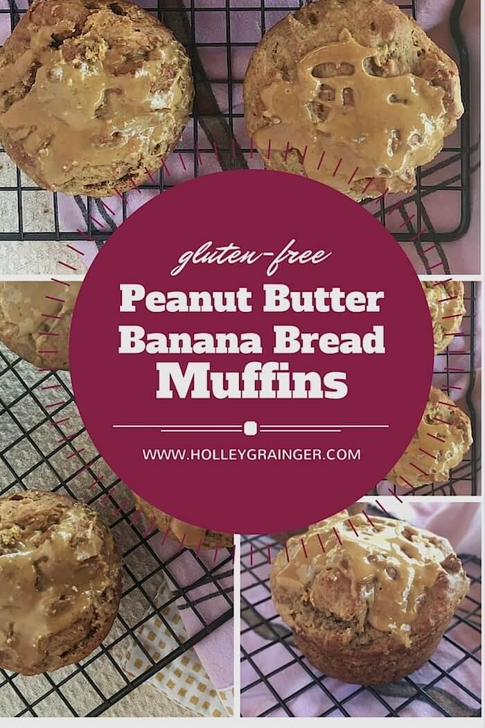 Gluten-Free Peanut Butter Banana Bread Muffins