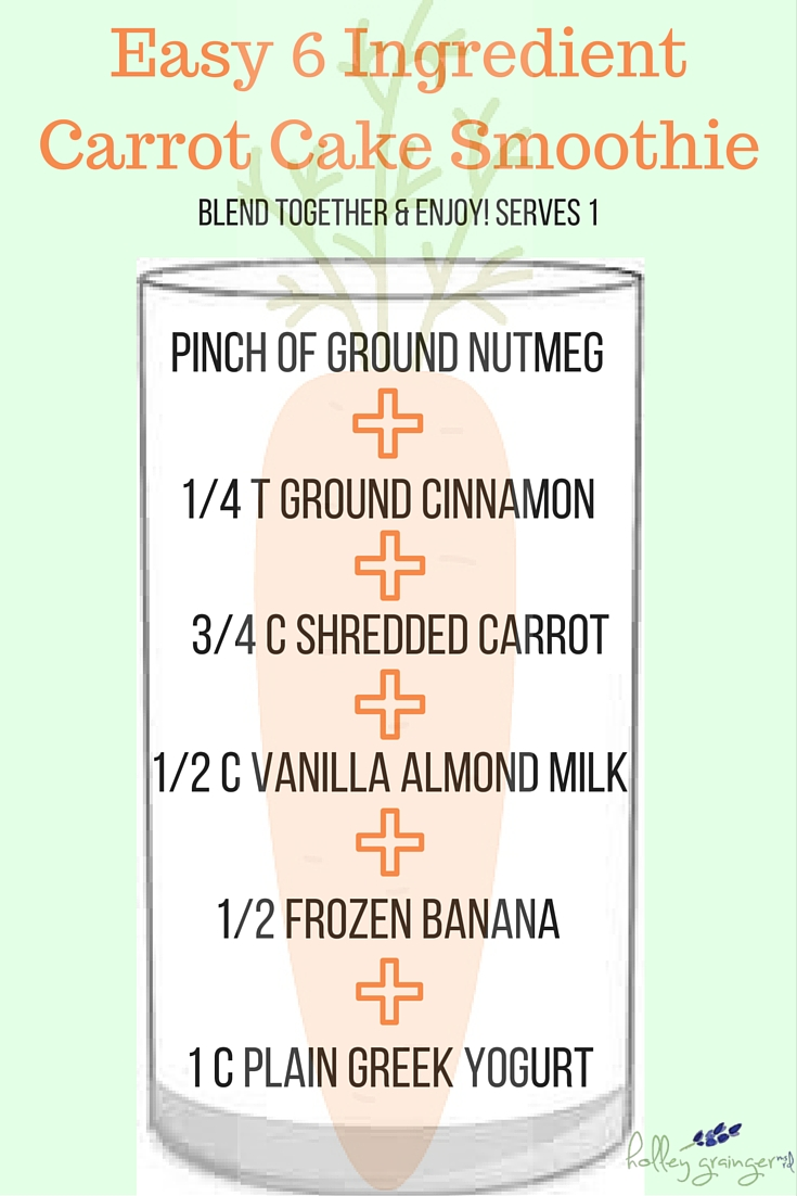 Carrot Cake Smoothie from Holley Grainger Nutrition