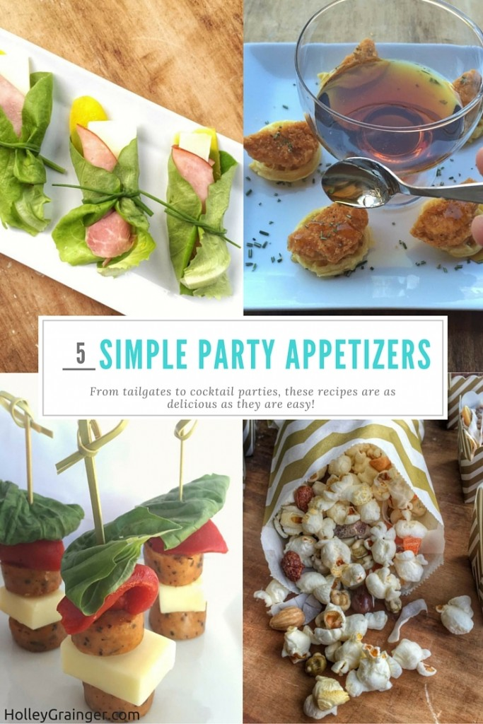 5 Simple Party Appetizers for tailgates to cocktail parties--there is something in this roundup to please everyone!