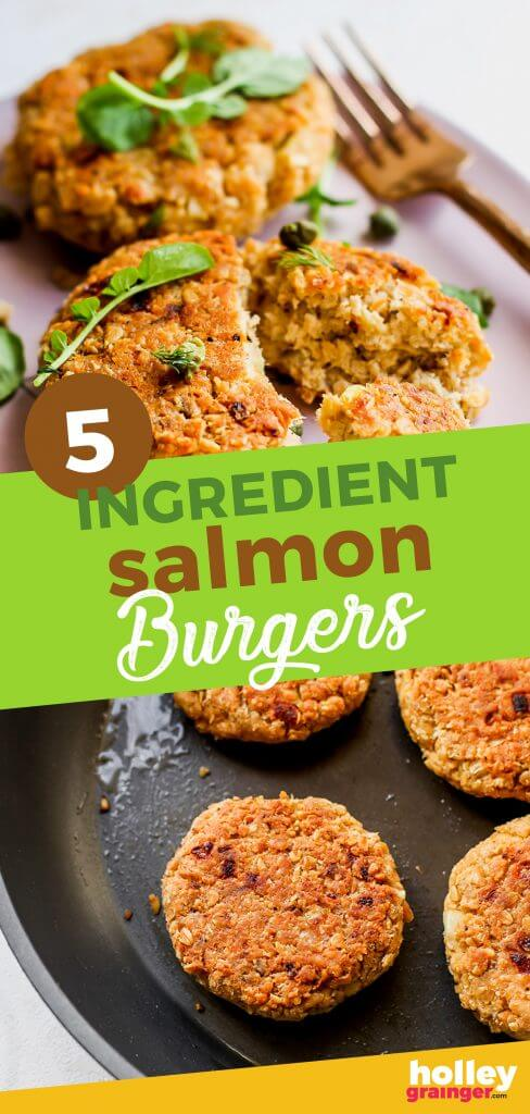 5-Ingredient Salmon Burgers from Holley Grainger
