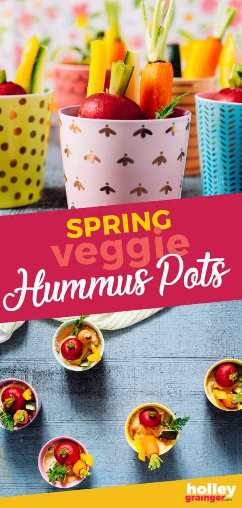 Spring Veggie Hummus Pots, from Holley Grainger