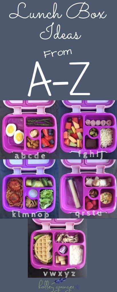 Lunchbox Ideas from A-Z via Holley Grainger Nutrition