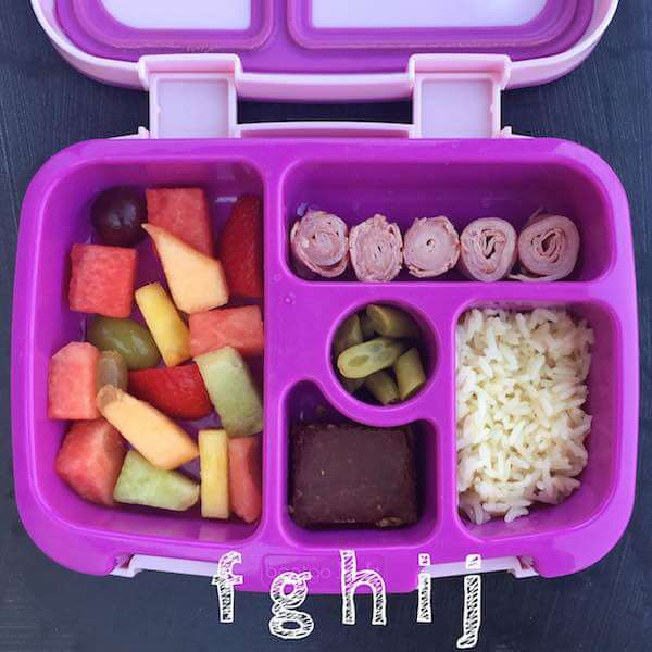 Alphabet Lunchbox letters F-J