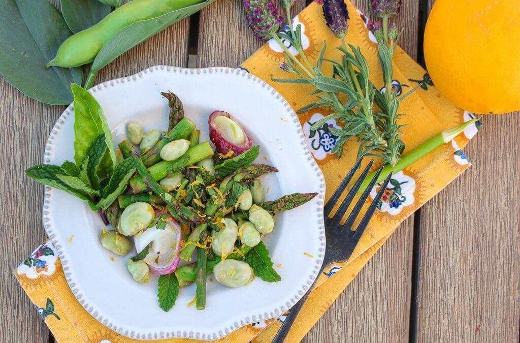 Fava Bean Asparagus Saute