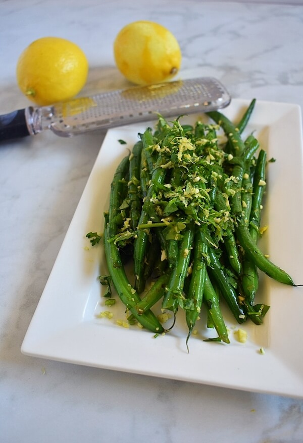 green bean gremolata