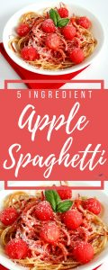 Think this is just ordinary spaghetti? Guess again! This simple 5-ingredient Apple Spaghetti is a fun and creative dessert that your whole family will love!
