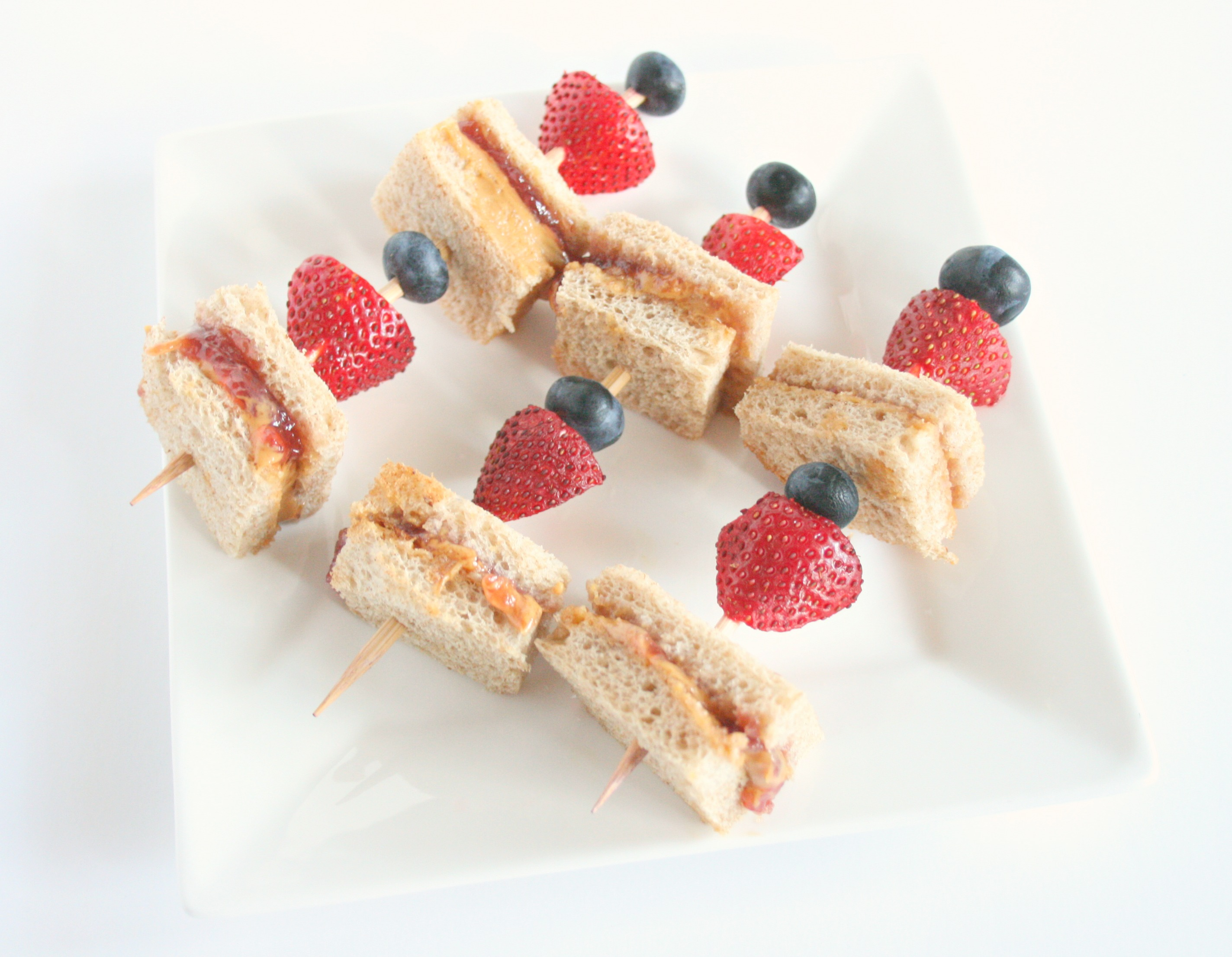 Peanut Butter and Jelly Skewers