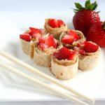 PB & Strawberry Sushi - Lunchbox