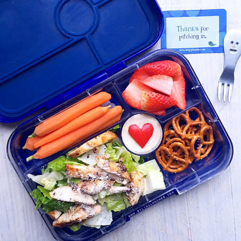 Chicken Caesar Salad by Sylina Lunches - favorite lunchbox recipes