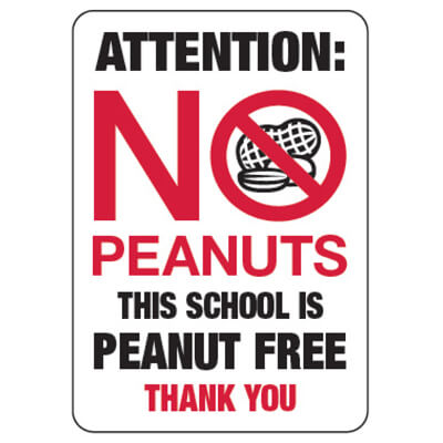 Nut Free School Sign