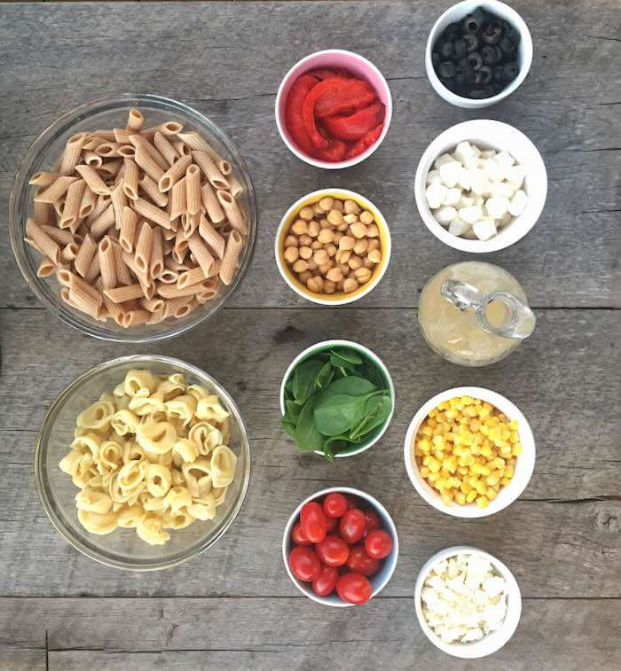 build your own pasta salad bar holley grainger