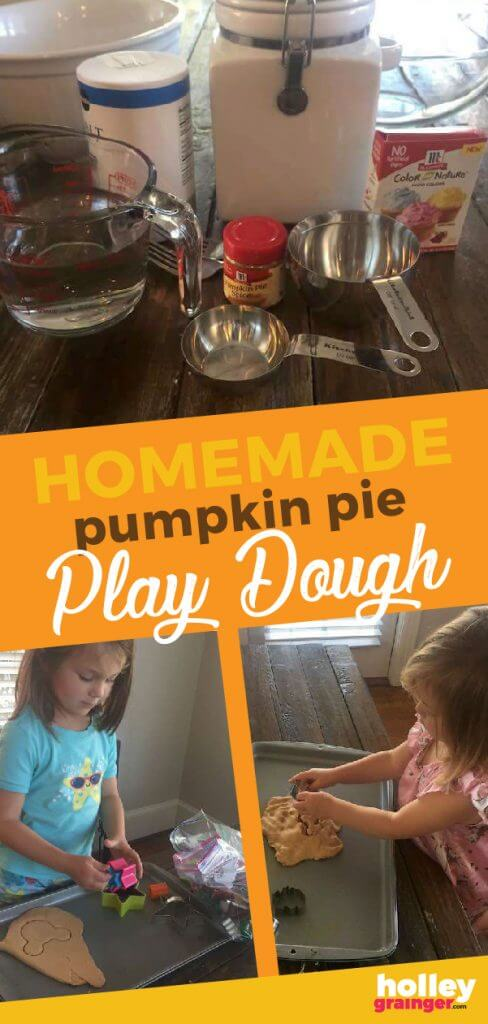 Pumpkin Pie Play Dough from Holley Grainger
