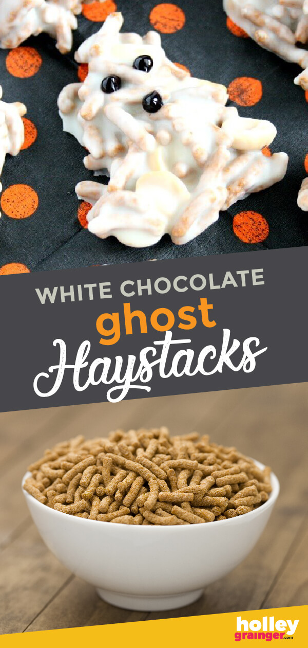 Make your Halloween treats a little less scary by adding wholesome ingredients when you make White Chocolate Ghost Haystacks. They put a healthy twist on the classic dessert and your little goblins will never know!