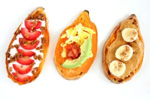 Want a Gluten free/ vegan friendly toast that packs in vitamins, minerals, and fiber? Next time you make toast, reach for a sweet potato and try my Breakfast Sweet Potato Toast 3 ways!