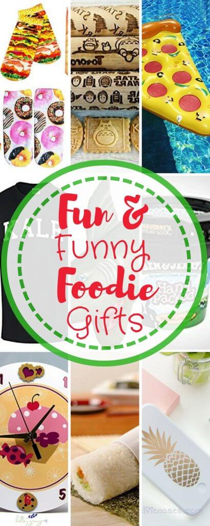 Fun and Funny Foodie Gifts for Christmas #gaggifts #whiteelephant #foodgifts #giftsforfoodies #foodiegifts #christmasgaggifts #dirtySanta