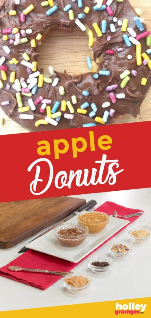 Healthy Apple Donuts, by Holley Grainger