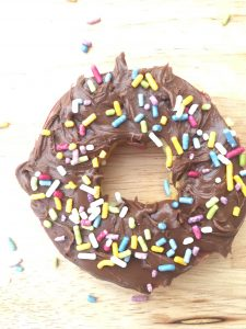 Chocolate Funfetti Apple Donut
