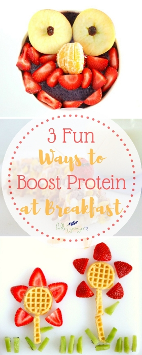 Family in a breakfast rut? Try making time each morning, eating at the table, and adding protein at breakfast with these fun and delicious kid-friendly recipes.