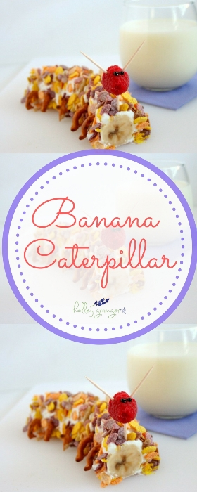 Looking for a fun way to get your kids in the kitchen? They will love helping you make these easy banana caterpillars. All you need is 4 simple ingredients and 5 minutes!