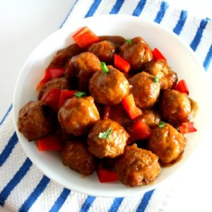 Looking for a quick appetizer or dinner to throw together last minute? Try my crock-pot sweet and sour meatballs. I bet you already have most of the ingredients!