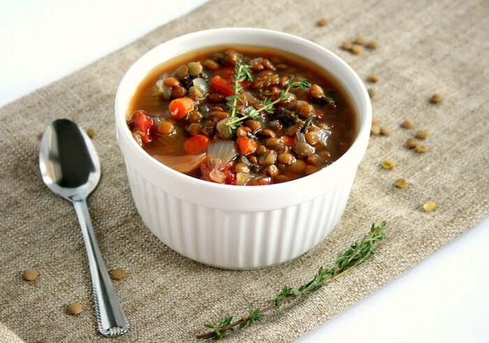 Kale, Lentil, and Sausage Slow Cooker Soup3