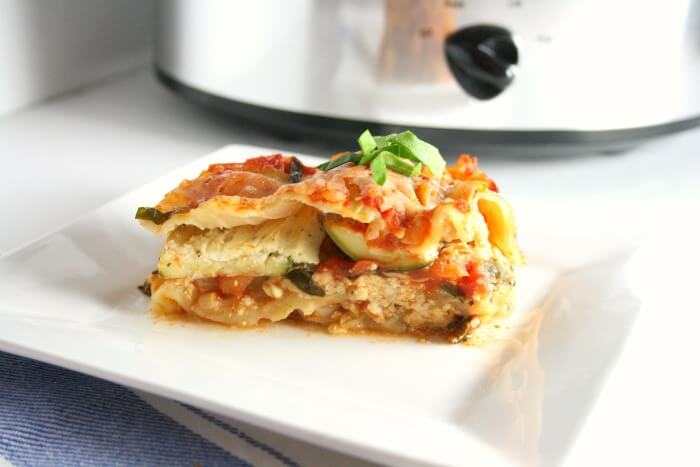 Slow Cooker Veggie Lasagna2