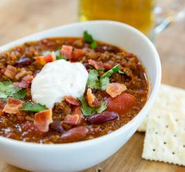 Hearty Beef, Beer and Bacon Chili