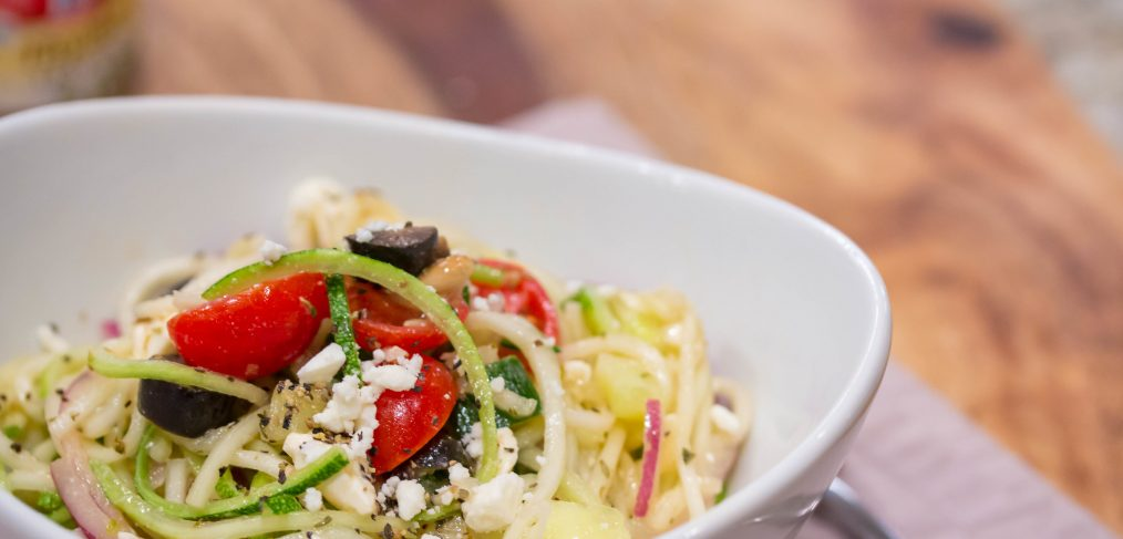 Looking for a fun new way to eat your veggies? This Greek Zoodle Salad is the perfect start. It's easy to make, packed with nutrients, and has tons of flavor from fresh veggies, cheese, and spices. Eating healthy has never been more simple or delicious!