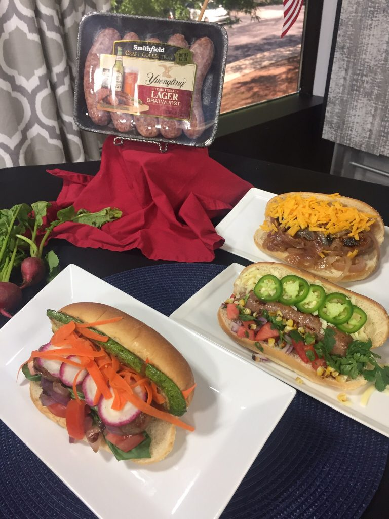 Create a Brats Bar for your Memorial Day festivities.