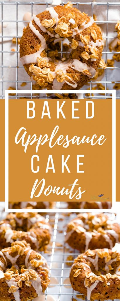 These light and flavorful Baked Applesauce Cake Donuts are a fun and unexpected twist on the classic cake recipe.