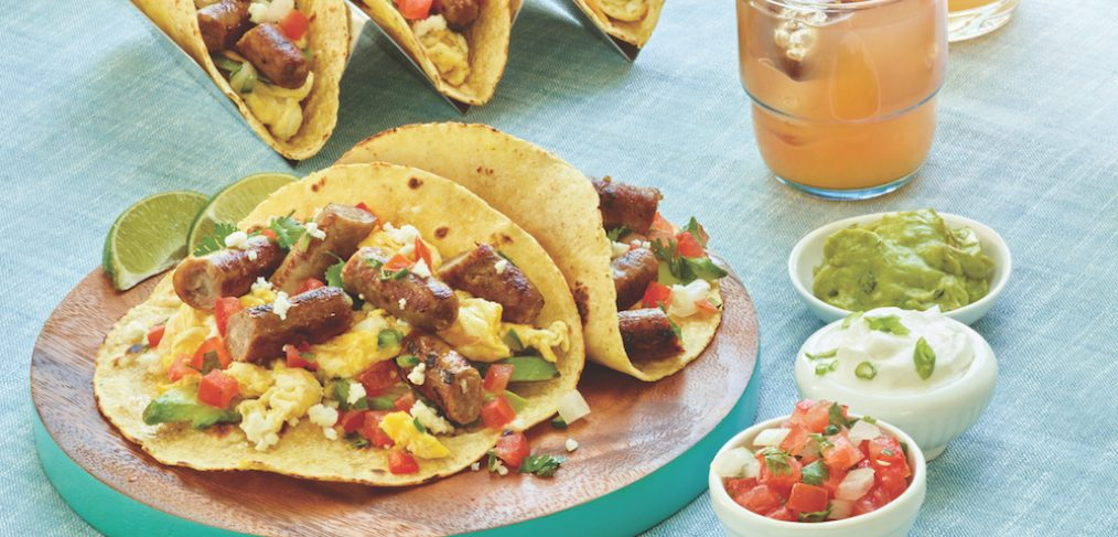 Simple Sausage Breakfast Tacos from Smithfield (client)