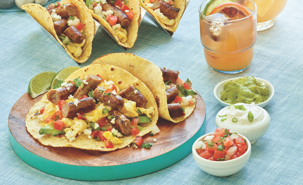 Simple Sausage Breakfast Tacos from Smithfield