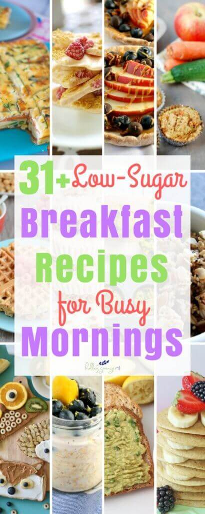 This guide is packed with OVER a month's worth of family-favorite, low-sugar breakfast recipes.