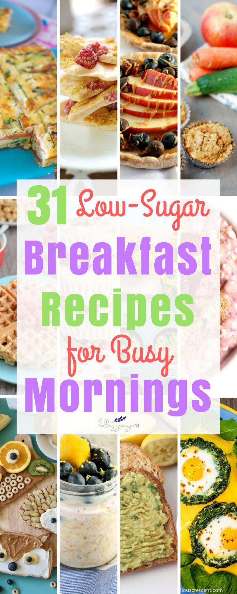 Get an ENTIRE MONTH of family-favorite, low-sugar breakfast recipes for busy mornings that will leave your family feeling full and satisfied.