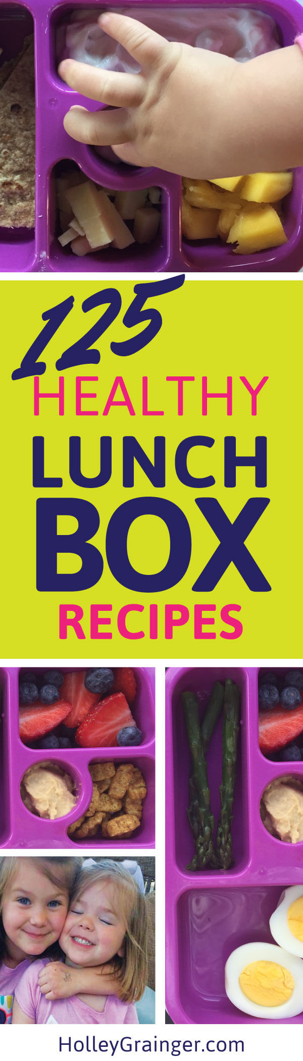 "Get the jump on the ""school lunch"" routine with 125 FREE easy-to-pack lunchbox ideas."